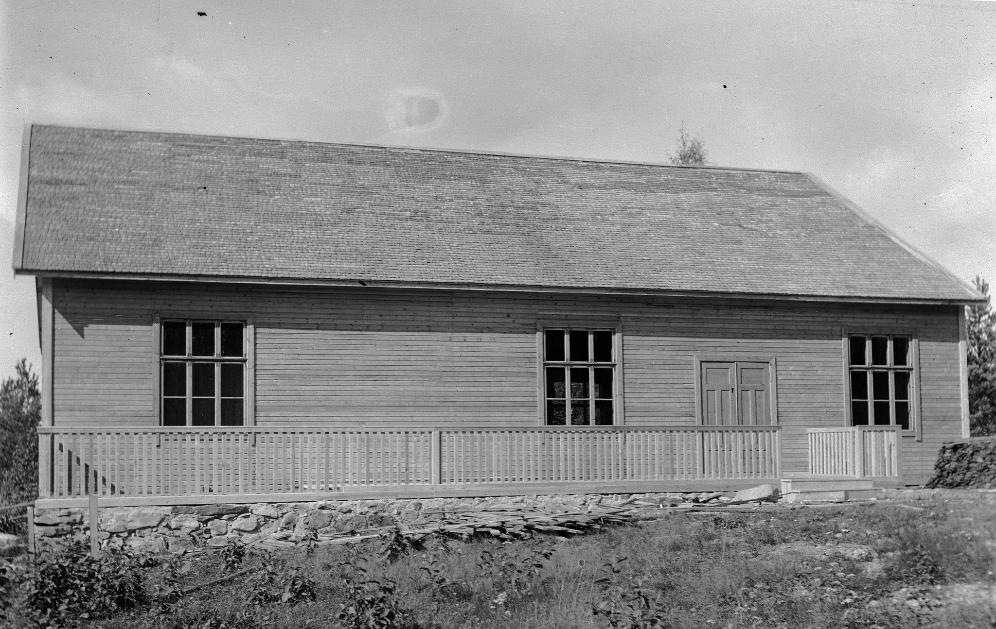 Tuiskulan Seuratalo vuonna 1927, Köyliön kuva-arkisto.